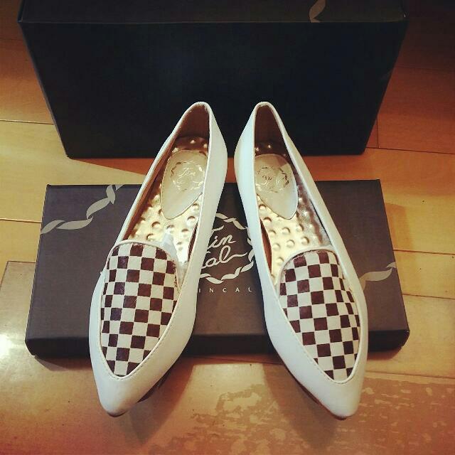 全新小牛皮馬毛樂福鞋,高質感