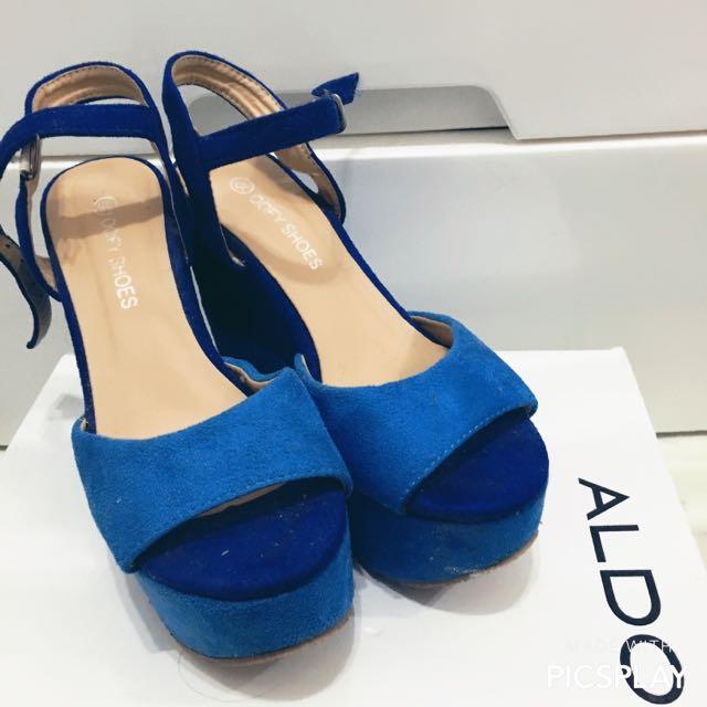 [韓貨]撞色楔型鞋