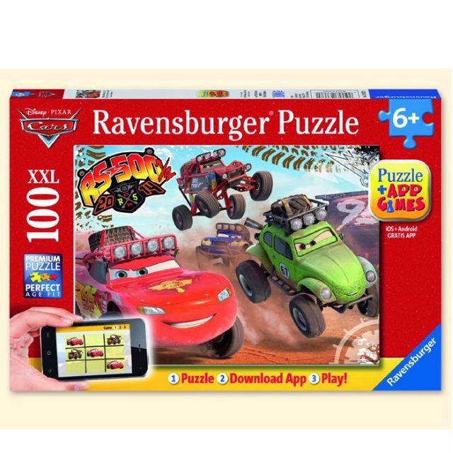 國外代購 德國Ravensburger  汽車總動員閃電麥坤100片 男孩拼圖