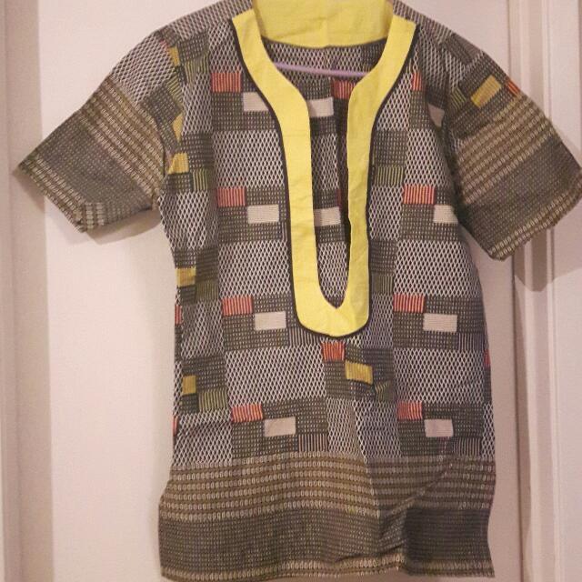 African Men's Casual Shirt