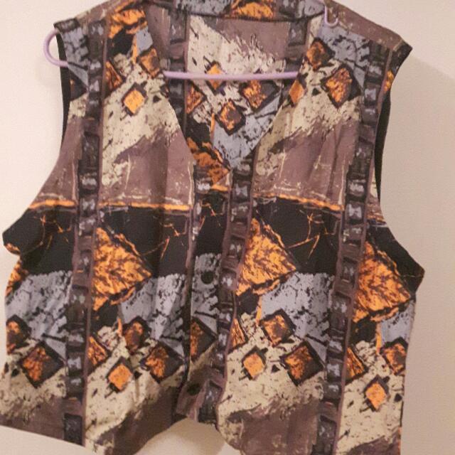 African Men's Casual Vest