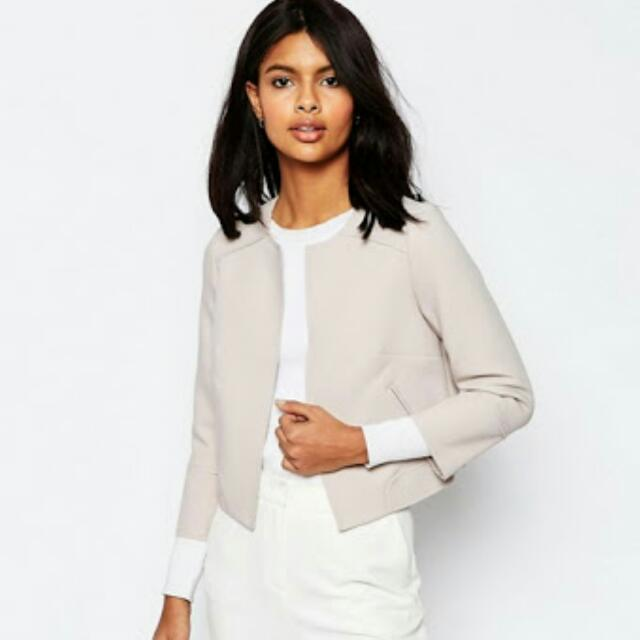 Asos Cropped Raw Edge Occasion Blazer