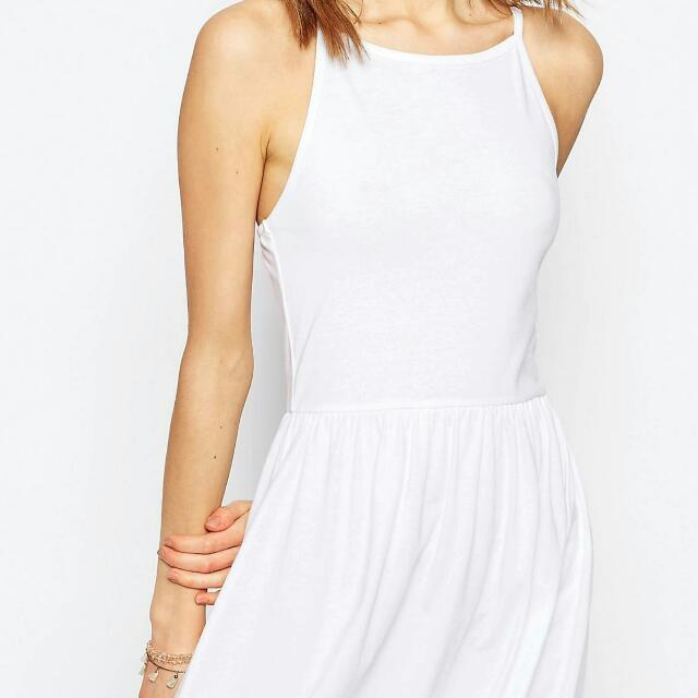 Asos Midi Sunset Dress With Droppe