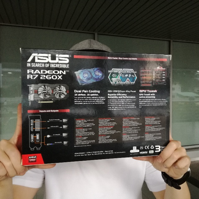 Asus AMD Radeon R7 260X OC 2GB DDR5
