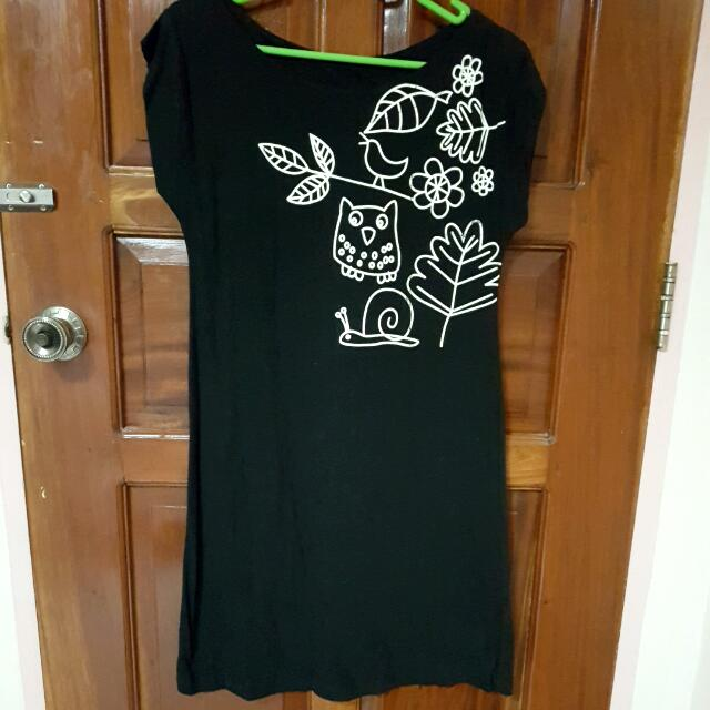 Black Owl Dress