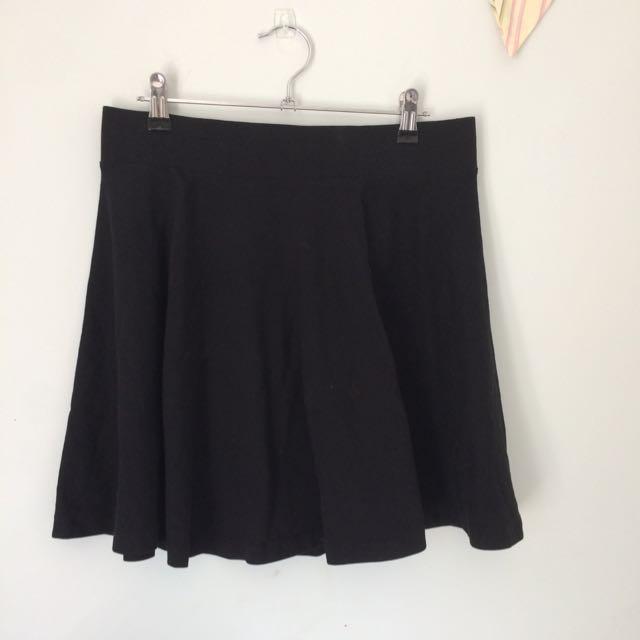 Black Skater Skirt, H&M