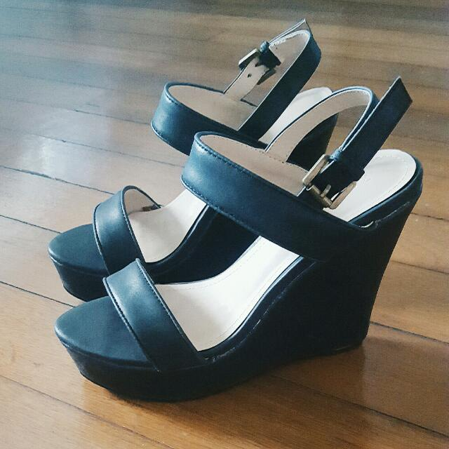 729a1cd699eb  Brand New REPRICED  Black Wedge Heels From Zalora