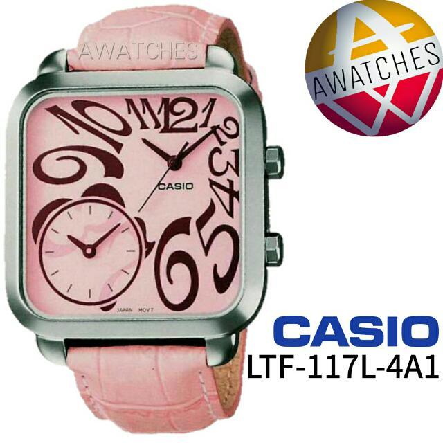 CASIO LTF 117L 4A1 DUAL TIME 100% ORIGINAL