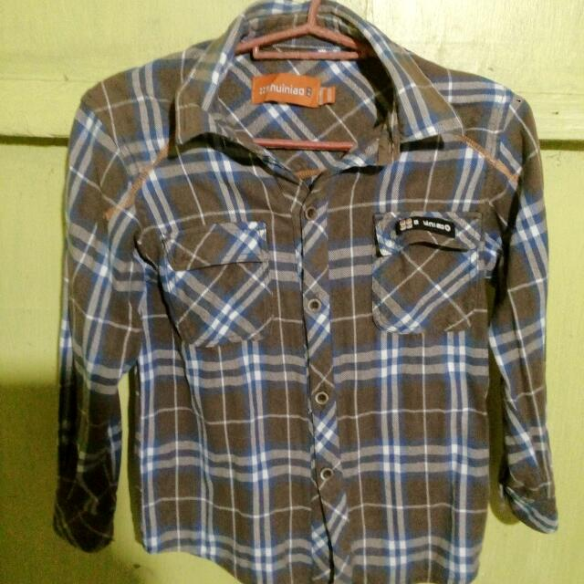 Brown Checkered Long Sleeve