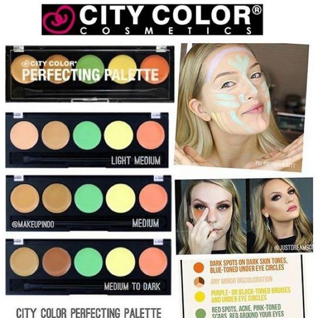 City color original perfecting palette concealer