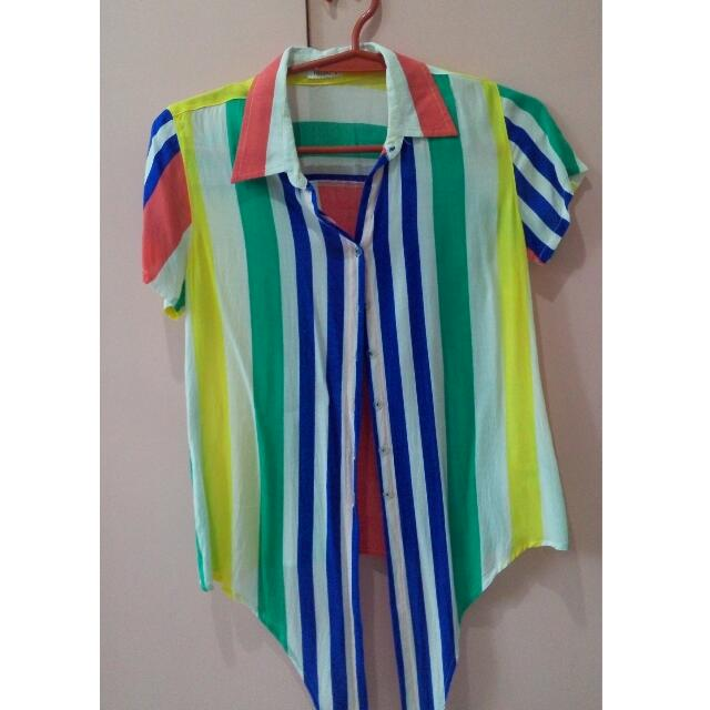 Colorful Stripe Blouse