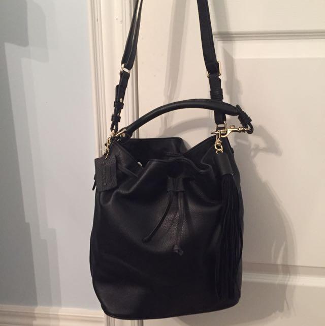 New Danier Black Leather Purse