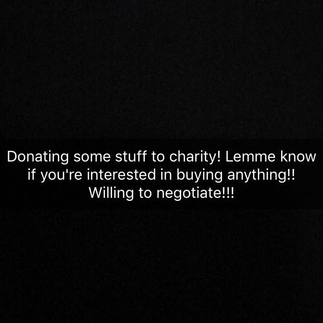 Donating A Bunch Of Things