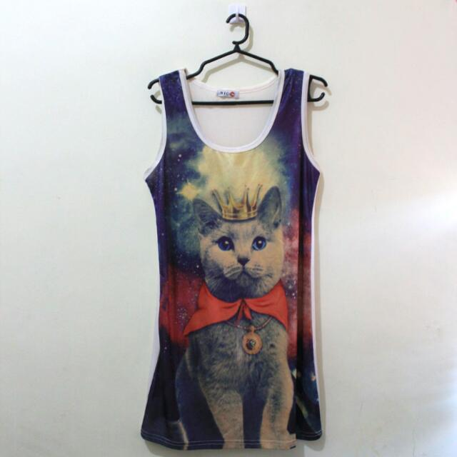 Galactic Cat Dress/Long Blouse