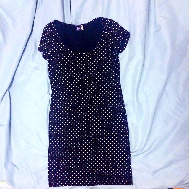 H&M Basic Black Polkadot Dress