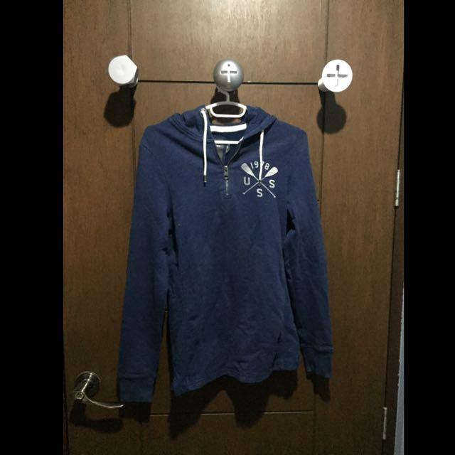 H&M Blue Half-Zip Hoodie