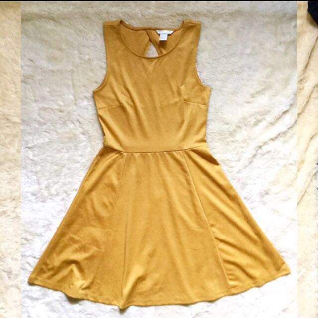H&M Yellow Skater Dress