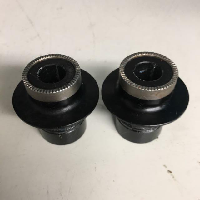Hope Pro2 Evo, 9mm Conversion Endcaps, Front