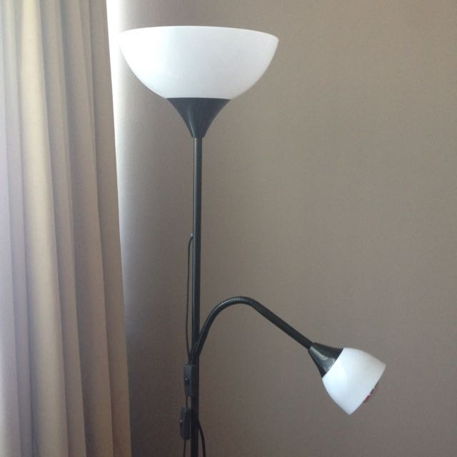 IKEA Black Floor Lamp And Reading Lamp