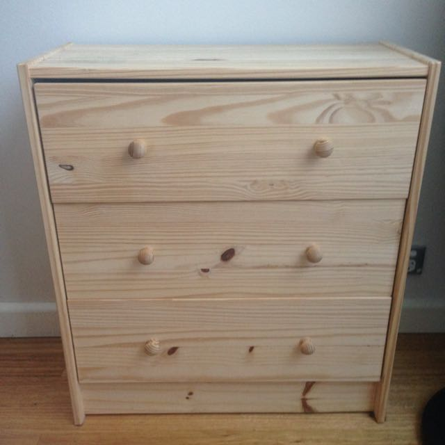 IKEA Rast Pine Chest Of 3 Drawers