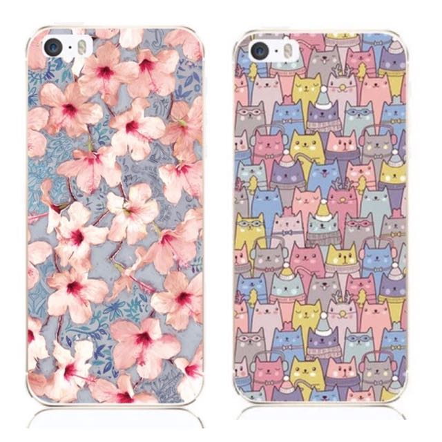 IPhone 5/ 5s 手機殼 貓咪/花朵(現貨)
