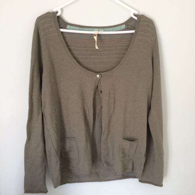 Ivy Green Cardigan Button-down