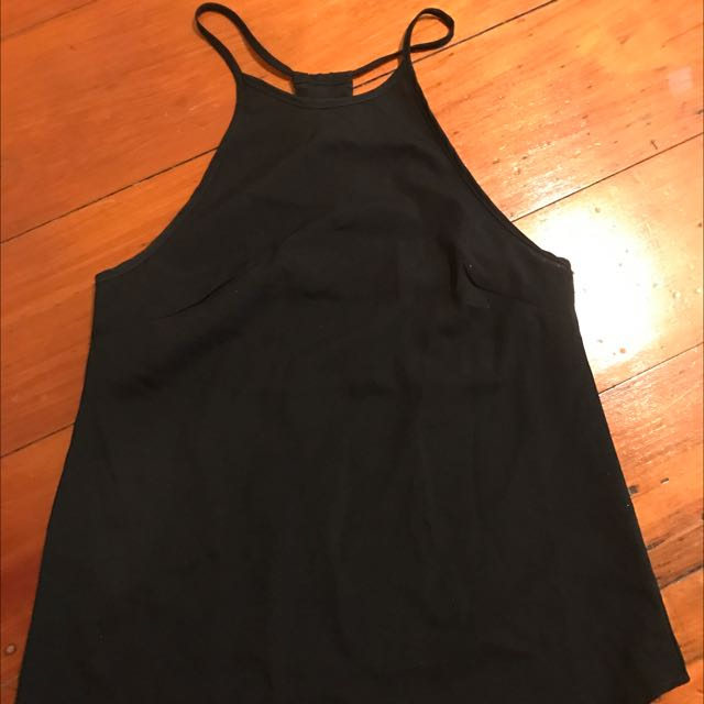 Jorge Black High Neck Shirt Size 6