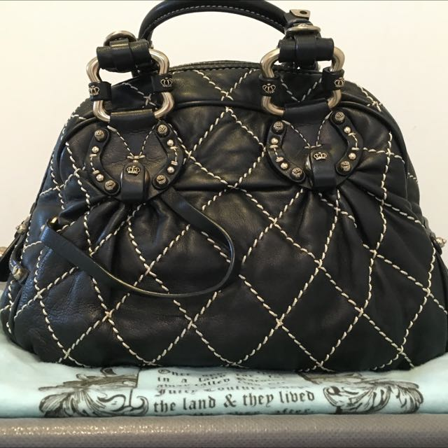 Juicy Couture Genuine Black Leather Bag