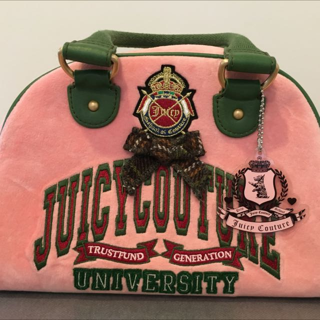 Juicy Couture Velour Bowler Bag