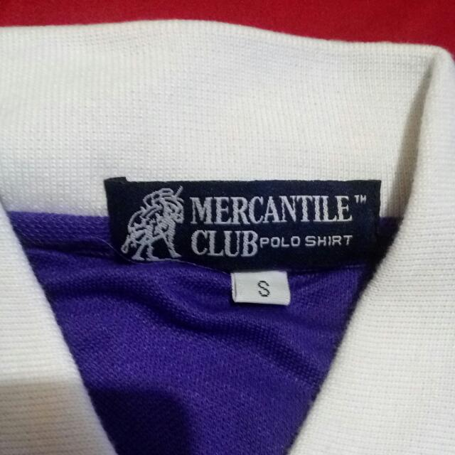 Kaos Warna Ungu Uk. S Merk MERCHANTILE CLUB Polo Shirt
