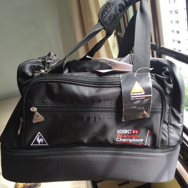 f1ce00af42b le coq Sportif Golf Boston Bag, Sports, Sports & Games Equipment on  Carousell