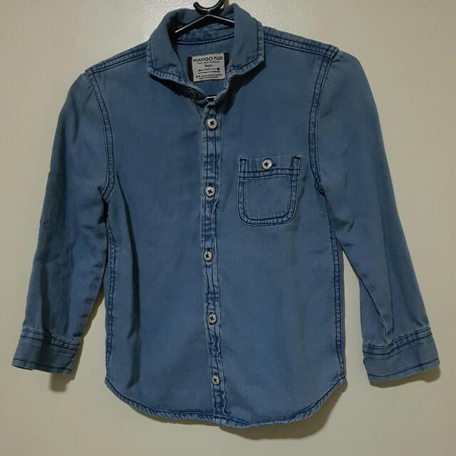 Mango Denim Shirt Boys