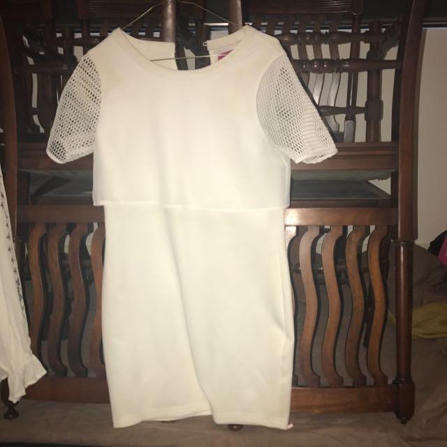 Mini Dress With Mesh Sleeves