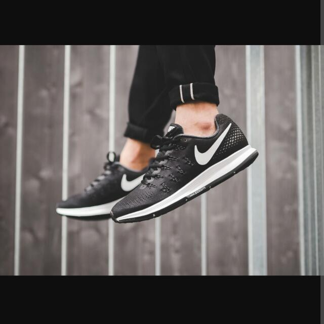 check out faba3 26247 Nike Air Zoom Pegasus 33 Black, Men s Fashion, Footwear on Carousell