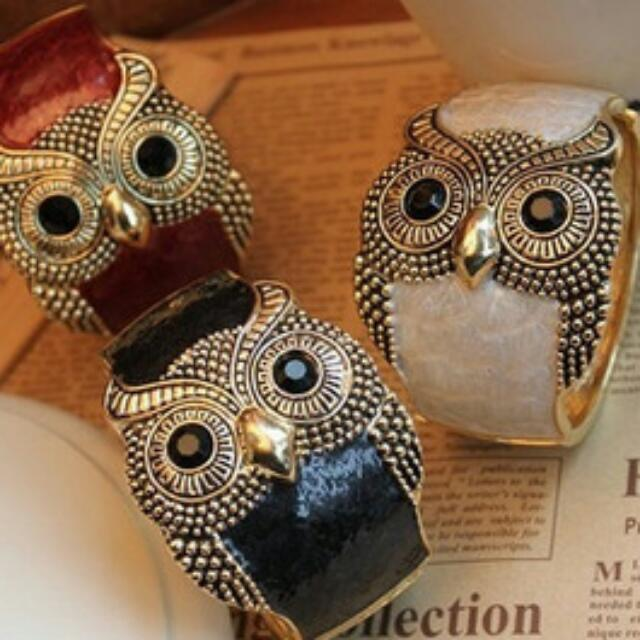 Owl Bracelet, Multiple Colors
