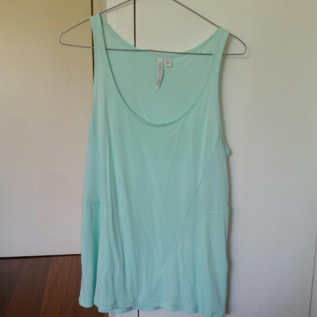 Pretty Light Blue Forever New Singlet Size 8, Loose And Flowy