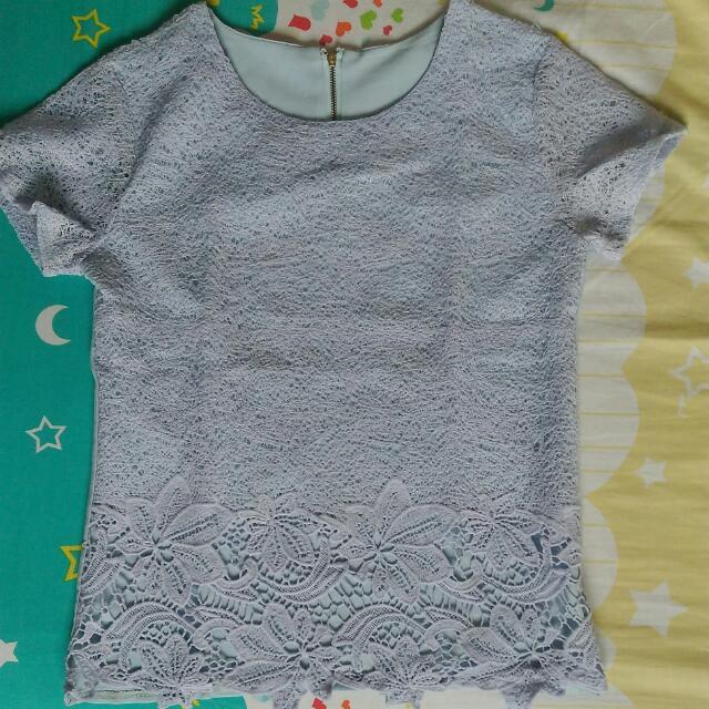 Shirt Brokat Blue