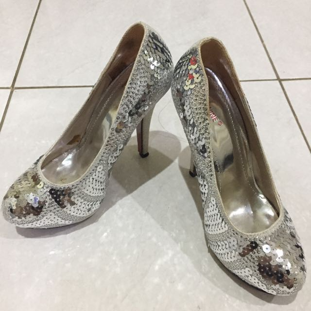 Silver Blink Shoes Uk 38