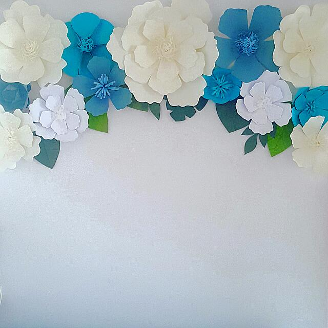Simple Arch Design Paper Flowers Backdrop Design Craft Handmade