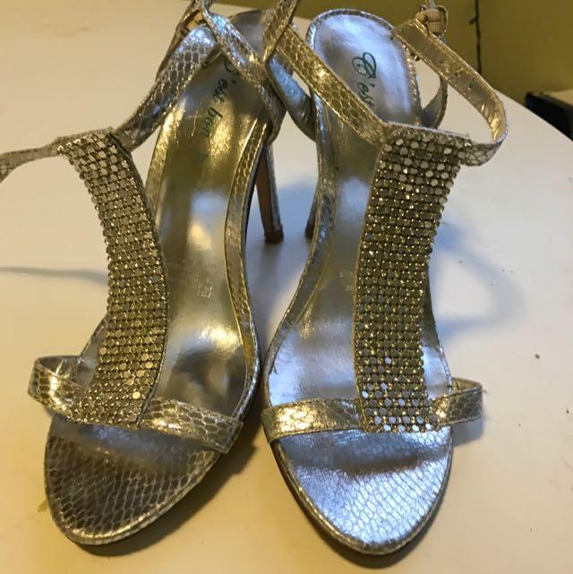 Sparkling Silver High Heels