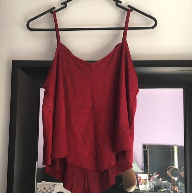 Suede Burgundy Top