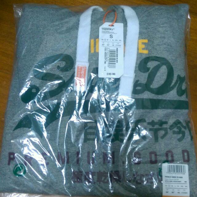 Superdry灰色帽T 男s號