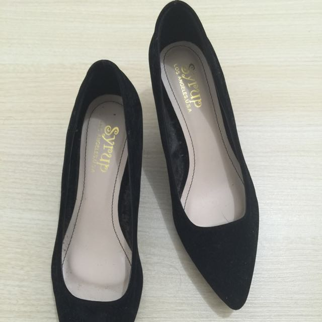 Syrup (People Are People) Black Shoes W/ Kitten Heels