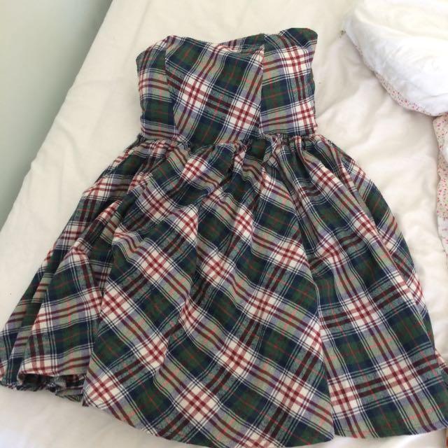Tartan Heart-shaped Dress