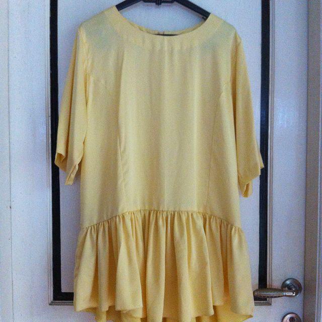 Yellow Ruffle Blouse
