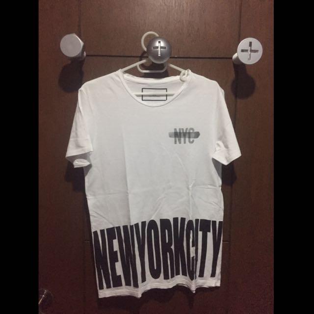 Zara White NYC T-Shirt