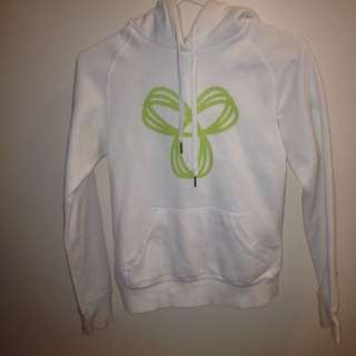 TNA White W/ Light Green Hoodie