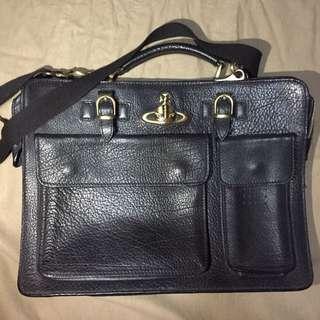 Vivian Westwood Calf Leather Briefcase