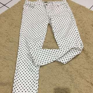 Zara Skinny Polkadot Pants