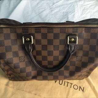 Authentic Louis Vuitton Damier Speedy 30